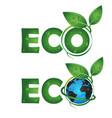 eco symbol design vector image vector image