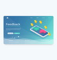 feedback reputation and quality concept vector image vector image