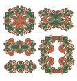 five ornamental floral adornment vector image vector image