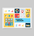 flat business infographic template vector image vector image