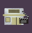 flat icon in shading style building cinema vector image vector image