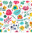 floral seamless pattern spring summer garden vector image