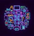 gadget neon concept vector image vector image