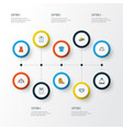 garment colorful outline icons set collection of vector image vector image