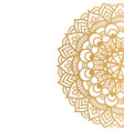 golden mandala isolated on white background vector image