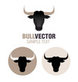 graphic image spanish bull head isolated on vector image