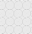 Gray touching Archimedean spirals on continues vector image vector image