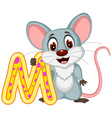 happy mouse cartoon posing vector image vector image