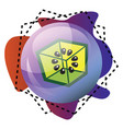 icon a kiwibox logo inside a bubble and vector image vector image
