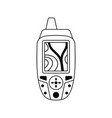 icon of portable gps device vector image vector image