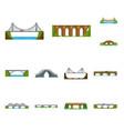 isolated object of bridgework and bridge icon vector image vector image
