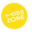 kids zone stamp label vector image