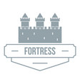 luxury fortress logo simple gray style vector image vector image