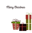 Meery Christmas background with gifts vector image vector image