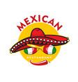 mexican restaurant icon chili maracas sombrero vector image