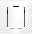 mockup new version tablet with transparent screen vector image vector image