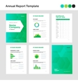 Modern annual report template with cover design vector image vector image