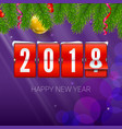 new year is coming 2018 background vector image