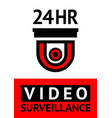 notice video cctv symbol sticker for print vector image vector image