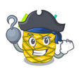 pirate pineapple juice garnished with on cartoon vector image vector image