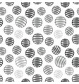 repeating abstract grey circles figure with lines vector image vector image