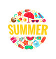 round pattern things for a summer holiday vector image
