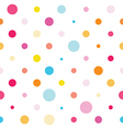 Seamless colorful spotted pattern vector image vector image