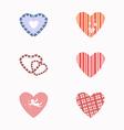 Set hearts vector image vector image