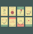 set of template design for greeting card love vector image vector image