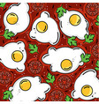 shakshuka pattern eggs and more vector image