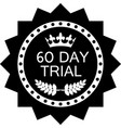 sixty day trial icon vector image