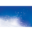 snow sky vector image vector image