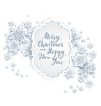 snowy festive banner vector image vector image