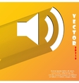 Speaker Flat modern web button with long shadow vector image vector image