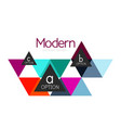 triangle shape design abstract business logo icon vector image vector image