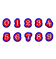Tricolor numbers 123456789 on a white background vector image