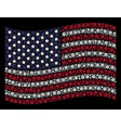 waving united states flag stylization of abstract vector image