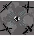 wireless satellite vector image