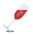 glass of red champagne vector image