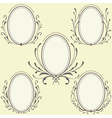 Oval Floral frames ornament vector image