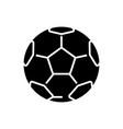 soccer ball - football icon vector image