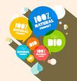 100 Natural Product - Bio vector image