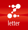 Abstract logo letter Z drops vector image vector image