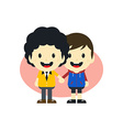 adorable gay cartoon character vector image vector image