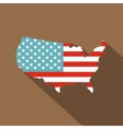 American map icon flat style vector image vector image