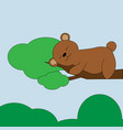 bear in cartoon style cute vector image