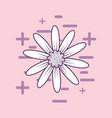 beautiful flower design vector image vector image