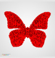 butterfly made of small butterflyes vector image vector image