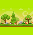 cartoon style game background vector image vector image