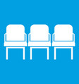 chairs in the departure hall icon white vector image vector image